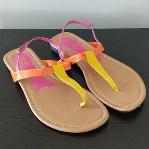 Kalli Thong Toe Buckle Sandals Shoes Size 8
